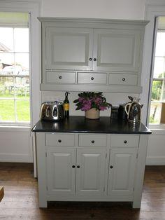 Farrow and Ball Verte De Terre. Bespoke Furniture, Handmade Furniture, Handmade Kitchens, Bespoke Kitchens, Kitchen Decor, Kitchen Cabinets, Home Decor, Vintage Bee, Craftsman Furniture
