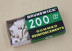 gummed reinforcements, put these on the holes on your notepaper in your 3 ring binder when they tore