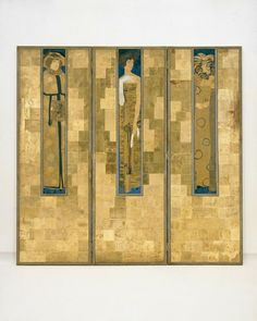 'Paravant' Viennese Screen 1906 Designed by Koloman Moser, This piece is part of the permanent collection of the Museum of Applied Arts from Austria (MAK)