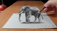 Drawing Tutorial - Drawings is an amazing form of art, where the pencil drawings seem to literally jump off the page. Most artists use graphite pencils for creating the look. Easy drawings are usually small 3d Pencil Art, Cool Pencil Drawings, 3d Drawings, Animal Drawings, Amazing Drawings, Easy 3d Drawing, 3d Art Drawing, Painting & Drawing, Drawing Tips