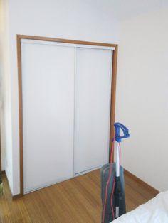Custom size glass closet doors, AC doors and room dividers. Modern Closet Doors, Glass Closet Doors, Sliding Closet Doors, Sliding Glass Door, Closet Designs, Modern Design, Home Appliances, Room, House Appliances
