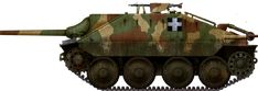The light mass-produced Jagdpanzer also known as the Hetzer, was a well protected and armed tank hunter built in Czechoslovakia under Nazi rule. Tank Destroyer, Engin, Defence Force, Armored Vehicles, Military Art, Skin So Soft, World War Two, Hungary, Military Vehicles