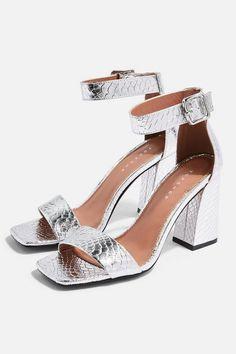 e29811c527bbc2 Womens SUKI Black Heel Sandals - Silver