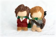 Frodo and Samwise Collectible Felt Doll Set- Lord of the Rings - by Drowsy Aurora on Etsy