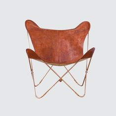 The Citizenry | Palermo Leather Butterfly Chairs - Copper & Cognac   – The Citizenry
