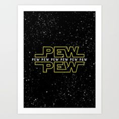 Art Print featuring Pew Pew V2 by BomDesignz