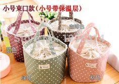 Polka dot cotton waterproof board box lunch bag