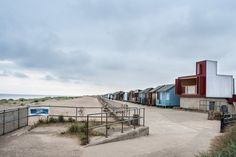 Jonathan Hendry Architects has built a beach hut clad in red-stained timber on top of an old toilet block in the English seaside town of Sandilands