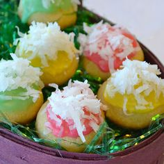 Easter Surprise Cookies - These tender butter cookies have a hidden candy surprise inside.