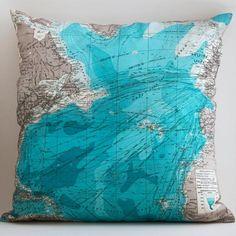 World cushion.