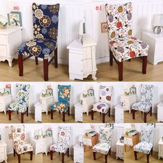 Stretch Dining Chair Covers Protector Slipcover Decor Spandex 14 Colour