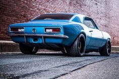 Marina Blue pro-touring '67 Camaro on Forgeline CF3C Concave wheels. https://www.carid.com/chevy-camaro-accessories/