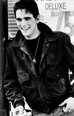 """Dallas Winston - The Outsiders (Matt Dillon)"" More like Matt Dillon - The Outsiders (Dallas Winston) because that is totally not Dallas smiling lol. The Outsiders Imagines, The Outsiders 1983, Andy Samberg, Joseph Gordon Levitt, Damon Albarn, Ezra Miller, Matthew Gray Gubler, Rami Malek, Christian Bale"