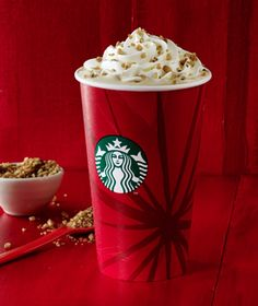 Chestnut Praline Latte | Starbucks Coffee Company Espresso, steamed milk, and flavors of caramelized chestnuts and spices. Topped with whipped cream and spiced praline crumbs.