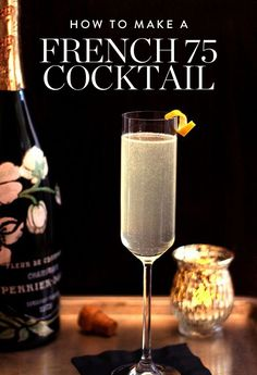 Watch how to make this simple and refreshing French 75 cocktail.