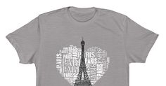 Love Paris - I love Paris every moment. Adorable design with the Eiffel Tower and white text: PARIS in heart. If you like it -are you proud to be a fan of Paris.