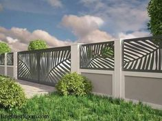 Unutterable fence ideas,Wooden fence in spanish and Modern fence gate design. House Fence Design, Exterior Wall Design, Modern Fence Design, Exterior Colors, Front Wall Design, Exterior Paint, Gate Wall Design, Gate Designs Modern, Modern Exterior