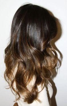 brunette ombre - love this colour