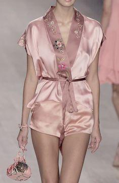 Runway and Couture: Blumarine Spring 2003 Lingerie Xxl, Jolie Lingerie, Lingerie Sleepwear, Nightwear, Pink Lingerie, Runway Fashion, High Fashion, Fashion Outfits, Style Fashion