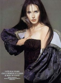 """For the release of 'La reine Margot' in 1994, Richard Avedon photographed Isabelle Adjani, back then France's nº1 actress and diva, all dressed in Christian Dior (by Gianfranco Ferre) Haute Couture. """""""