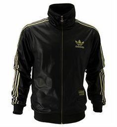 adidas superstar track top black gold