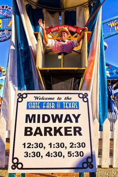 The Midway Barker ~ Welcome to the State Fair of Texas!