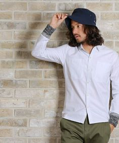 CAMBIO(カンビオ)のms2174 - Knit rib L/S oxford shirt(シャツ/ブラウス)|ホワイト