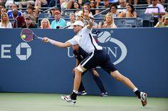 Isner vs. Edmund   September 02, 2016 - John Isner in action against Kyle Edmund during the 2016 US Open at the USTA Billie Jean King National Tennis Center in Flushing, NY.