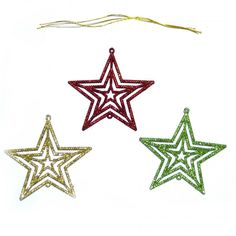 Each of these fantastic tree decorations is designed in the shape of a star and decorated with glitter. Add some glitter and sparkle to your Christmas tree! Perfect for Christmas and fantastic for any festive celebration. Festival Decorations, Christmas Tree Decorations, Christmas Ornaments, Holiday Decor, Hanging Ornaments, Hanging Decorations, Glitter Stars, Xmas Party, Shapes