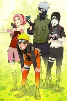 Naruto, Sakura Sai and Kakashi Naruto Team 7, Naruto Kakashi, Naruto Gaiden, Naruto Anime, Naruto Cute, Naruto Shippuden Anime, Manga Anime, Sasunaru, Narusaku