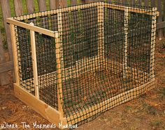 DIY Compost Bin. Great for leaves.