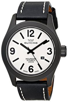 Glycine Men's 3874-91-LB9B Incursore Analog Display Swiss Automatic Black Watch...