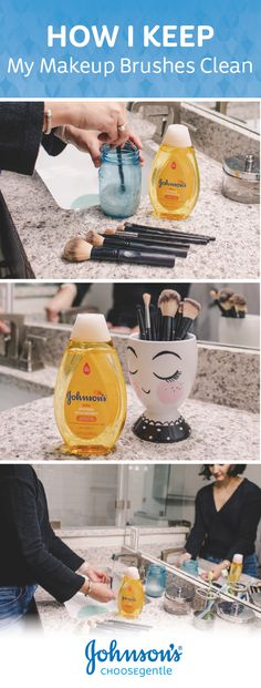 Looking for tips on washing your makeup brushes? This guide for How to Keep Your Makeup Brushes Soft can help! The secret? Johnson's® Baby Shampoo! 100% gentle and free of dyes, parabens, and phthalates, this skincare essential can help you take better care of your brushes—it is trusted for babies, after all. Click to save on this favorite today!