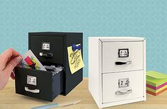 Avoid the clutter caused by business cards and store them all in this Mini Cabinet Card Organiser. Its design includes two nifty mini drawers – the perfect desk companion. Cute Office Supplies, Desk Supplies, School Supplies, Business Card Maker, Unique Business Cards, Ideas Para Organizar, Card Organizer, Office Organization, Organizing