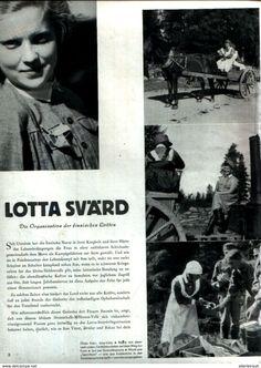 Bücher, Zeitschriften, Comics - Lotta Svärd-Die organisation der finnischen Lotten / unvollständiger Artikel, entnommen aus Modezeitschrift 1942