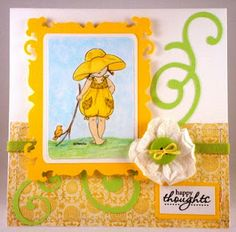 Anyone know WHO makes this adorable little stamp????  I must have it!  My Time To Craft!: Challenge 172 - 'A' is for Adorable!