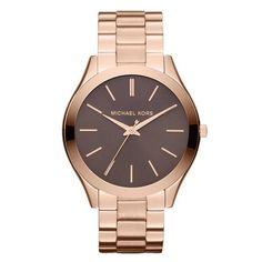 Reloj Michael Kors Runway rosado chocola