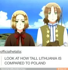 Poland is quite short but wasn't Poland on the dock or in a boat while Lithuania was on the road in this scene?