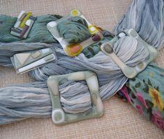 Fused glass accessories by Julia Rezinsky, via Behance