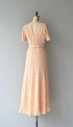 Innsfree dress vintage 1930s dress lace 30s dress by DearGolden