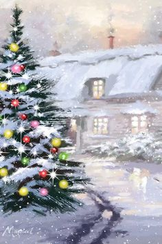 Christmas Scenes, Christmas Art, All Things Christmas, Beautiful Christmas, Winter Christmas, Christmas Decorations, Holiday Decor, Canvas Frame, Canvas Wall Art