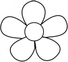 Seven Awesome Things You Can Learn From Simple Flower Printable Flower Coloring Sheets, Printable Flower Coloring Pages, Simple Flower Girl Dresses, Simple Flowers, Simple Flower Drawing, Flower Outline, Flower Silhouette, Embroidery Patterns Free, Hand Embroidery