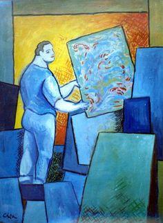 Il pittore nello studio