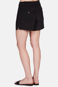 """""""The Totême woman is not a slave to trends,"""" says Elin Kling, creative director of the New York-based label. Among the timeless pieces in the spring 2016 collection are these silk shorts, named for the bustling capital of Kenya. The slightly relaxed fit is shaped by reverse pleats, side-slit hems, on-seam side pockets, and back welt pockets."""