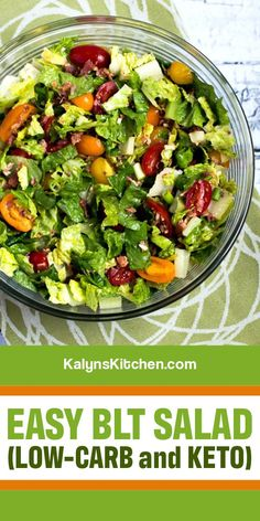 Healthy Carbs, Healthy Eating, My Favorite Food, Favorite Recipes, Blt Salad, Summer Salads, Low Carb Recipes, Salad Recipes, Side Dishes