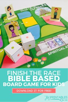 Finish The Race – FREE Printable Board Game for JW Kids | JW Printables