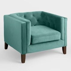 Teal Velvet Kendall Chair The Best of home decoration in 2017.