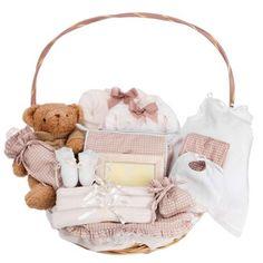 #Regalos Bebé. #Canastilla Clásica Plena con Oso. #babygift