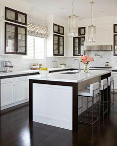 modernes raffrollo in der küche
