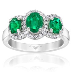 Gerard McCabe Aura Emerald and Diamond Ring